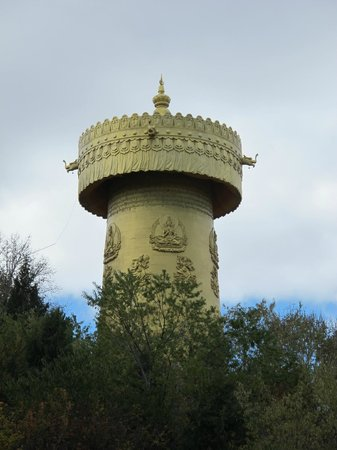 Guishan Park : Huge prayer wheel