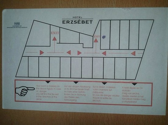 Hotel Erzsebet City Center: rooms map