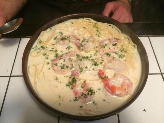 If: Prawn and Scallop Cream Pasta