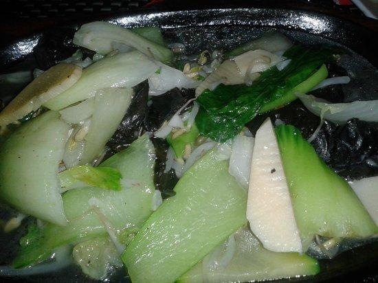 Trattoria Cinese Long Chang Di Zhou Yuelong : Verdure alla piastra