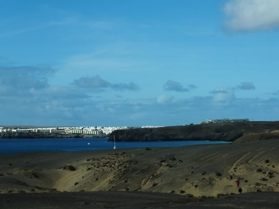 Playa de Papagayo : Panorama na Playa Blanca