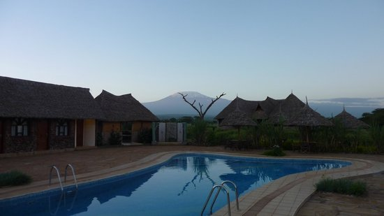AA Lodge Amboseli: Pool with Kilimanjaro View