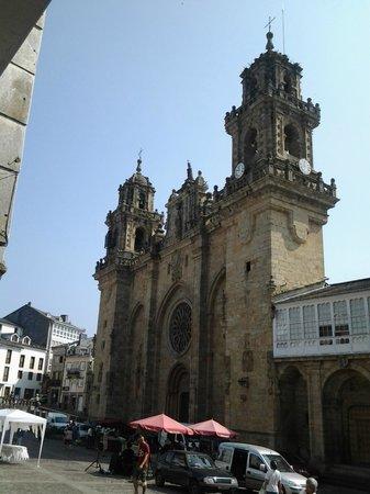 Las torres de la catedral de Mondoñedo.