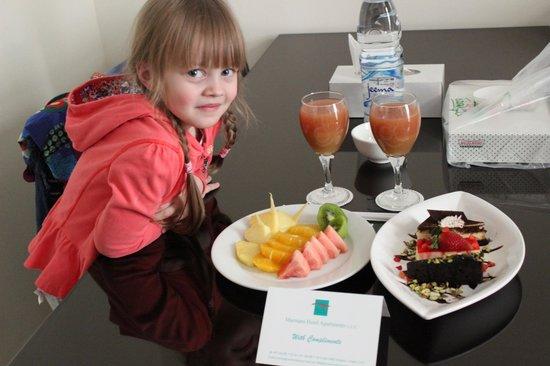 Marmara Hotel Apartments: Поздравление от отеля