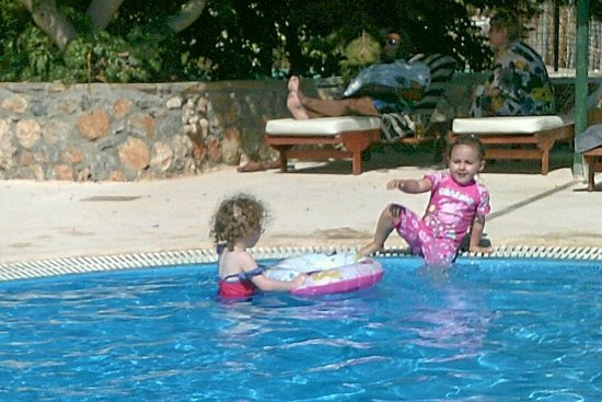 Lindos Gardens Resort Complex: my Grandaughter & Friend in the Baby Pool