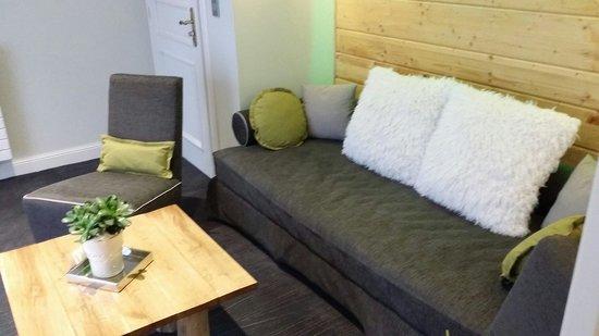 """Hostellerie La Cheneaudiere - Relais & Chateaux: Espace cosy """"suite les Aliziers"""""""