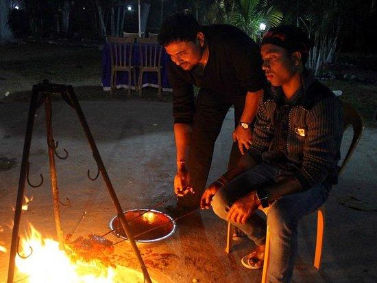 Resort Murti: Me busy in Chicken