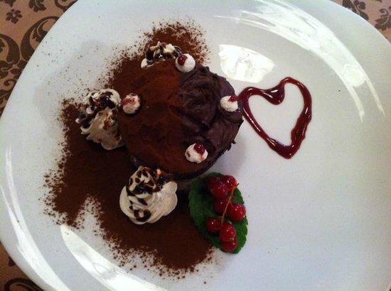 Hotel Chalet Plan Gorret: Mousse al cioccolato