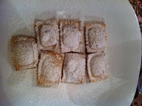 Hotel Chalet Plan Gorret: Raviolini di ricotta dolci