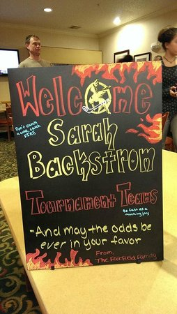 Fairfield Inn Erie Millcreek Mall: Thank you for our Welcome sign Maria!