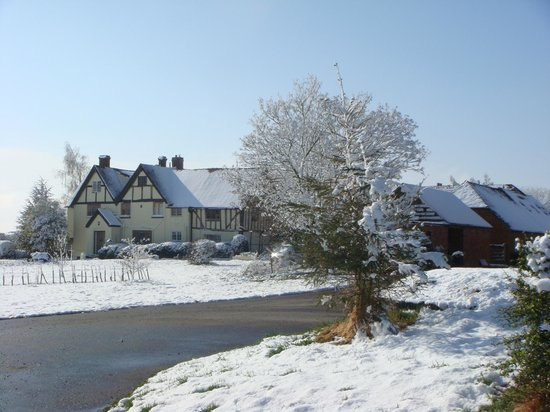 Wootton Park: Farmhouse covered in snow