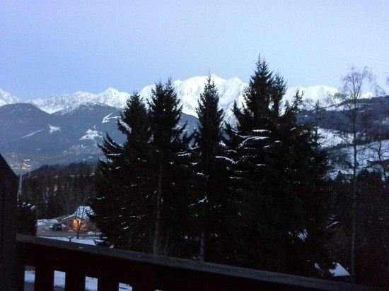 Résidence Goélia La Grande Cordée : vue du balcon côté mont blanc