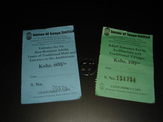 Tarifs 2013 Bomas of Kenya
