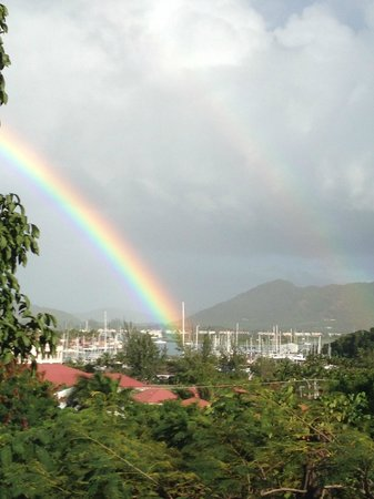 Sugar Ridge : Double rainbow seen from our room!
