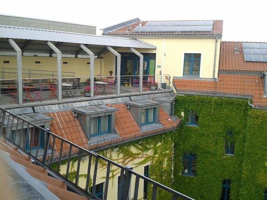 Mikon Eastgate Hotel: terraza del hotel con wifi e ideal para pasar la tarde