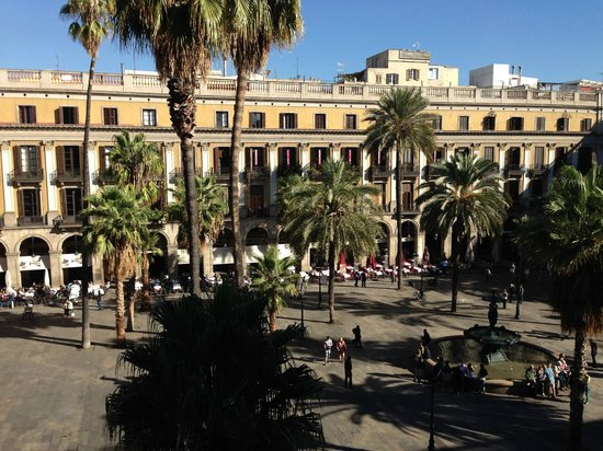 Hotel DO: View from room balcony over the Placa