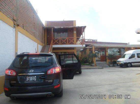 Refugio del Pirata: ya saliendo del hotel