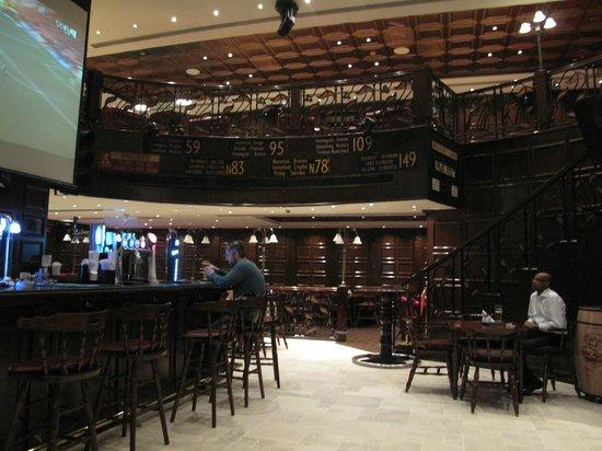 Roda Al Murooj: Indoor Area of Double Decker Pub