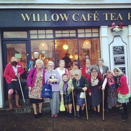 Willow Cafe Tea Room: Grannies after a lovely afternoon tea