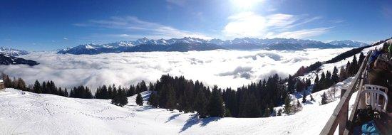 Hotel Zodiaque : Panorama depuis les pistes de ski