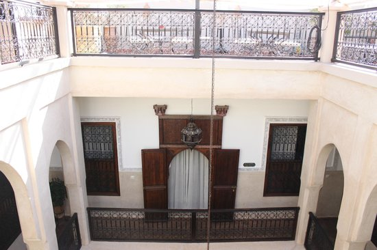 Riad le Clos des Arts : Looking into the front of our room from the rooftop.