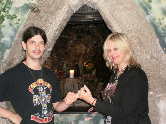 The Museum of Witchcraft and Magic: Me and my partner Karl
