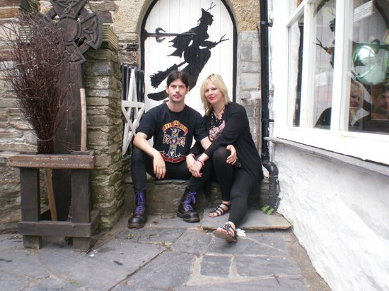The Museum of Witchcraft: Me and Karl outside museum