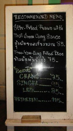 Cafe 143: a part of the menu
