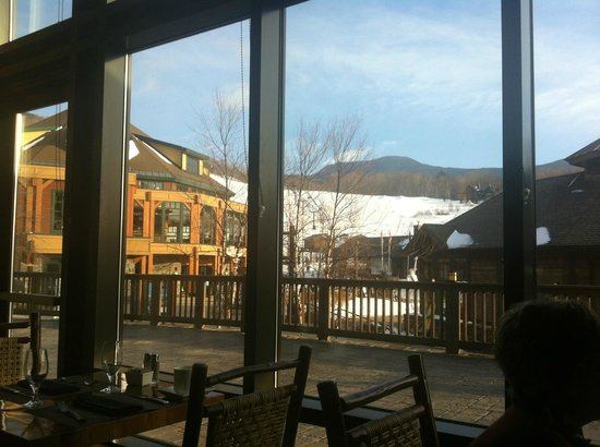 Stowe Mountain Lodge : View from breakfast at Solstice.