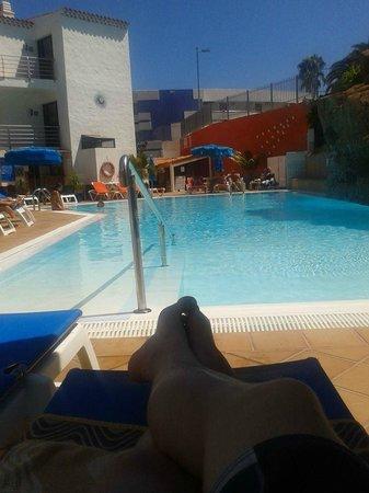 Casas Pepe : vanaf dit plekje loop je zo het lekkere zwembad in