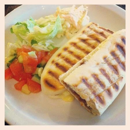 Cafe Parisien: panini with salad...