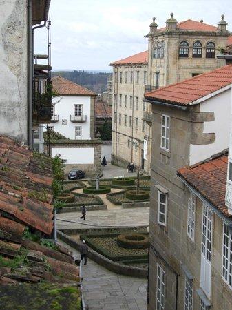 Albergue Azabache: Vista a la Plaza de la Inmaculada