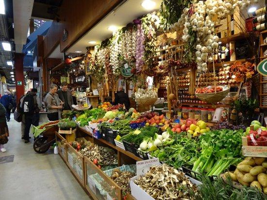 Florence Apartments Central: mercato centrale banco di frutta e verdura