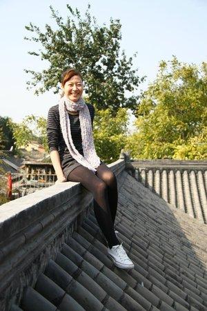 夜奔北京客棧: 非常開心的我