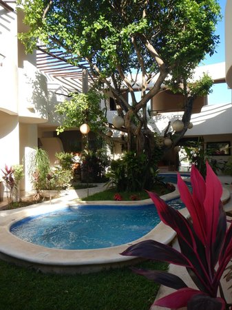 Hotel Posada 06 Tulum: giardino interno e piscina
