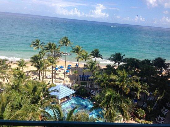 San Juan Marriott Resort & Stellaris Casino: View from the balcony of room