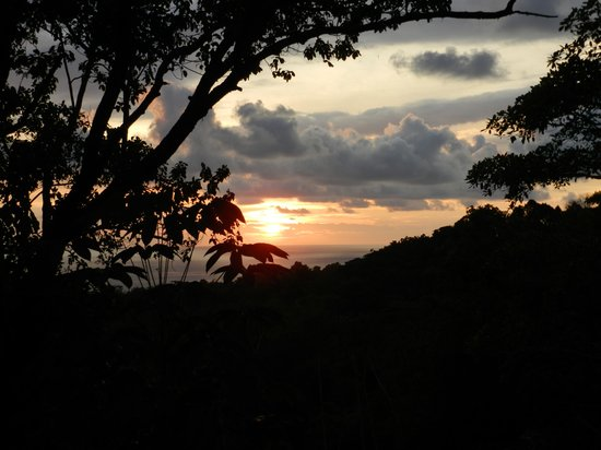 Finca Bavaria: Coucher de soleil