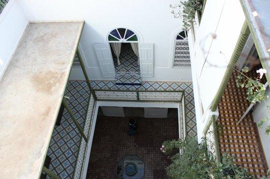 Maison de la Photographie de Marrakech : looking down into the courtyard