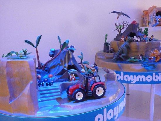 Ibi, Spania: Vista de los juguetes de la habitación playmobil