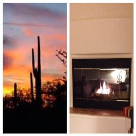 Inn at Eagle Mountain : Evening Walk & Fireplace