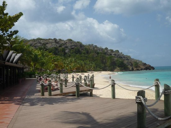 Galley Bay Resort : The beach - view from the bar