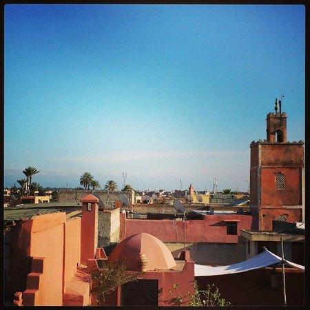 Riad Fabiola: vue de la terrasse fin janvier