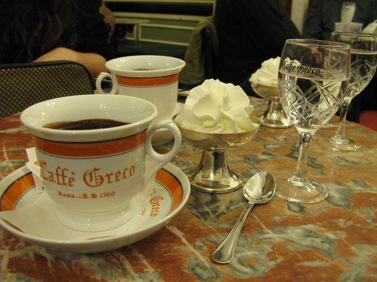 Caffe Greco: Petite tasse de chocolat à 10 euros