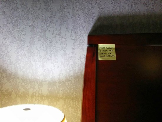 Hampton Inn & Suites Indianapolis/Brownsburg: Interesting note about the sheets - I hope they're clean