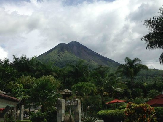 The Royal Corin Thermal Water Spa & Resort: View of volcano from our room