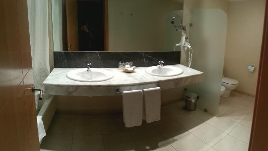 Hotel Eurostars Zaragoza: Baño de la habitación doble