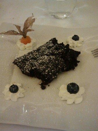 Ristorante della Posta: Torta di zucca al cioccolato