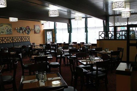 The dining room at The Greek House.