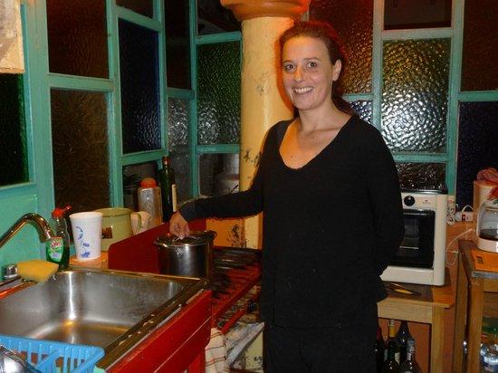L'Arrabbiata : Chef Laura at work