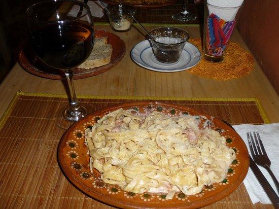 L'Arrabbiata : Pasta with blue cheese, vodka and cream